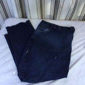 ⭐️ Woman Within 28T Jeans with frayed bottom